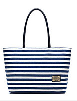 Women Bags Canvas Tote Zipper for Casual All Season Blue Black