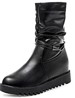cheap -Women's Shoes Rubber Winter Combat Boots Boots Round Toe For Outdoor Black