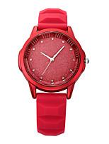 Mulheres Relógio Casual Relógio de Moda Relógio de Pulso Chinês Quartzo Impermeável Silicone Banda Brilhante Casual Elegant Minimalista