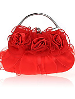 cheap -Women Bags Silk Evening Bag Ruffles for All Season White Black Red Beige Purple