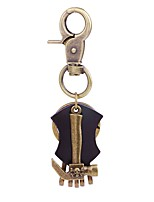 Keychains Jewelry Leather Alloy Irregular Vintage Cool School Street