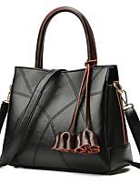 cheap -Women Bags PU Tote Zipper for Shopping Office & Career All Season Black Red Gray