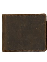 Men Bags Cowhide Wallet Pockets for Shopping Casual All Season Brown
