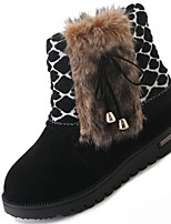 cheap -Women's Shoes Rubber Winter Snow Boots Boots Round Toe For Outdoor Red Black