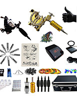 cheap -BaseKey Tattoo Machine Professional Tattoo Kit, 2 pcs Tattoo Machines - 1 steel machine liner & shader / 1 alloy machine liner & shader