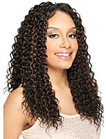 Women Human Hair Lace Wig Brazilian Human Hair Lace Front 130% Density Kinky Curly Wig Black/Medium Auburn Dark Auburn Medium Auburn
