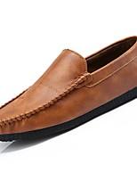 Homme Chaussures Polyuréthane Printemps Automne Confort Mocassins et Chaussons+D6148 Pour Décontracté Noir Jaune Kaki