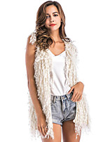 Sleeveless Acrylic Wedding Party / Evening Women's Wrap With Tassel Vests