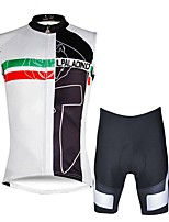 Cycling Jersey with Shorts Men's Sleeveless Bike Vest/Gilet Clothing Suits Bike Wear Quick Dry 3D Pad Reduces Chafing YKK Zipper Fashion