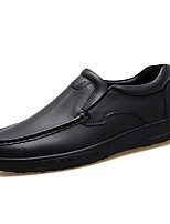 Men's Shoes Leatherette All Season Comfort Loafers & Slip-Ons For Casual Black