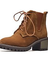 abordables -Mujer Zapatos Cuero Nobuck Invierno Otoño Botas de Combate Confort Innovador Botas hasta el Tobillo Botas Dedo Puntiagudo Dedo redondo