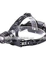 cheap -U'King Headlamps LED 1200 lm 3 Mode Cree XM-L2 Portable Durable Camping/Hiking/Caving Everyday Use Cycling/Bike Hunting Fishing Black