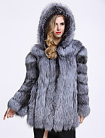 Long Sleeves Faux Fur Wedding Party/ Evening Women's Wrap With Cap Coats/Jackets