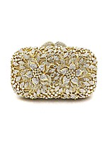 cheap -Women Bags Metal Evening Bag Flower(s) for Wedding Event/Party All Season Gold