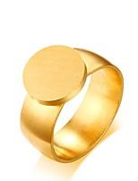 abordables -la joyería elegante simple del número del círculo del acero de titanio de las mujeres de los hombres para la tarde de la boda va de fiesta