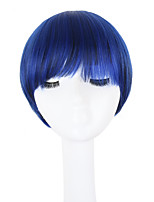 cheap -Women Synthetic Wig Capless Short Straight Blue Natural Hairline Bob Haircut With Bangs Lolita Wig Celebrity Wig Halloween Wig Cosplay