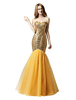 Mermaid / Trumpet Sweetheart Floor Length Sequined Prom Formal Evening Dress with Sequins Bandage by Sarahbridal