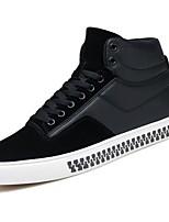 preiswerte -Herren Schuhe PU Frühling Herbst Komfort Sneakers für Normal Schwarz Grau Rot
