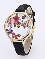 Жен. Нарядные часы Наручные часы Китайский Кварцевый Повседневные часы PU Группа Цветы Бабочка Черный Белый Синий Красный Зеленый Розовый
