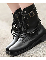 cheap -Women's Shoes PU Fall Winter Comfort Combat Boots Boots For Casual Black