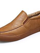 cheap -Men's Shoes PU Spring Fall Comfort Loafers & Slip-Ons For Outdoor Brown Gray Black