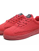 cheap -Men's Shoes PU Fleece Spring Fall Fluff Lining Light Soles Sneakers Stitching Lace For Casual Red Gray Black
