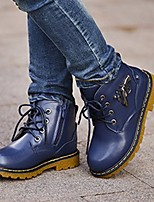 cheap -Boys' Shoes Cowhide Winter Snow Boots Boots Booties/Ankle Boots for Casual Black Yellow Brown Blue