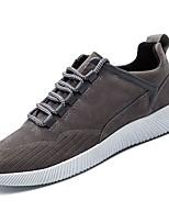 Недорогие -Для мужчин обувь Полиуретан Весна Осень Удобная обувь Кеды для Повседневные Серый Черно-белый