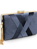 cheap -Women Bags Velvet Evening Bag Sashes/ Ribbons for Wedding Event/Party All Season Green Black Almond Black Grey Wine