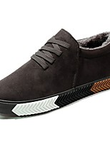 cheap -Men's Shoes PU Winter Fluff Lining Light Soles Sneakers Null Null / For Casual Khaki Gray Black
