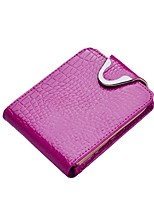 cheap -Women Bags Cowhide Patent Leather Wallet Buttons Pattern / Print for Shopping Casual All Season Fuchsia