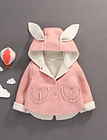 Girls' Solid Down & Cotton Padded,Cotton Long Sleeves Cute Active Blushing Pink