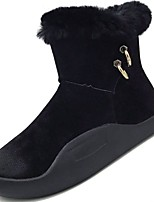 cheap -Women's Shoes PU Suede Winter Fall Comfort Snow Boots Boots Round Toe For Casual Army Green Black