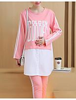 Costumes Pyjamas Femme,Sexy Lettre et chiffre Coton Noir Rose Claire Gris Clair