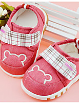 cheap -Baby Shoes Fabric Winter Fall Comfort First Walkers Flats Walking Shoes Magic Tape for Casual Red Blue