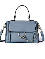 Women Bags Cowhide Tote Zipper for Casual All Season Blue Black Gray Wine