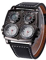 Недорогие -Муж. Модные часы Кварцевый Защита от влаги Термометр Компас PU Группа Cool Черный Коричневый