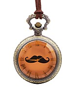cheap -Men's Casual Watch Pocket Watch Chinese Quartz Large Dial Leather Band Casual Brown