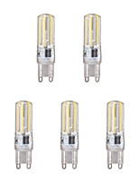 5pcs 4W G9 LED Bi-pin Lights 4 leds COB Warm White Cold White 350lm 6500/3500K AC 200-240V