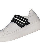 cheap -Men's Shoes PU Spring Fall Comfort Sneakers For Casual Black/White Pink/White