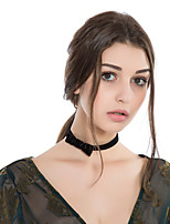cheap -Women's Bowknot Fashion Choker Necklace Flannel Toison Choker Necklace , Gift Daily