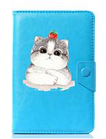 abordables -caja universal de la cubierta del soporte del cuero de la PU del gato de la historieta para 7 pulgadas 8 pulgadas 9 pulgadas tableta de la