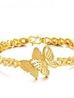 economico -Per donna Bracciali a catena e maglie Bracciale Florale Asiatico Regalo Adorabile Di tendenza Placcato in oro A fiocchetto Gioielli Per