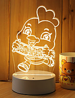1 Set Of Decorative Acrylic 3d Night Light LED Bedroom Lamp Mood Lamp, Hand Scanning, Dimming, Color Change, 3W, Chick