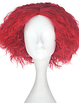 cheap -Men Adult Short Kinky Curly Hair Unisex Orange Color Wig Movie Role Play Hair Cosplay Wigs Halloween