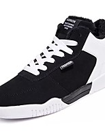 cheap -Men's Shoes Canvas Spring Fall Fluff Lining Light Soles Sneakers For Casual Black/White Black