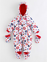 Baby Pattern One-Pieces,Cotton Winter Long Sleeves White