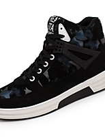 cheap -Men's Shoes PU Spring Fall Comfort Sneakers For Casual Black/Blue Black/Red Black/Silver