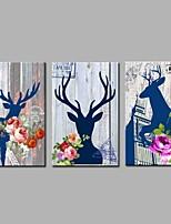 Impression sur Toile Rustique,Trois Panneaux Toile Imprimé Décoration murale For Décoration d'intérieur