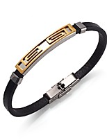 Men's Women's Link Bracelet Casual Stainless Steel Leather Alloy Geometric Jewelry For Evening Party Valentine